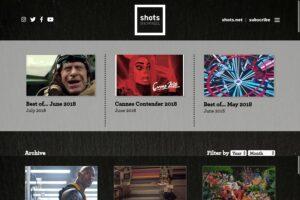 Shots Showreel - Homepage