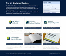 UK Statistical System - Main page